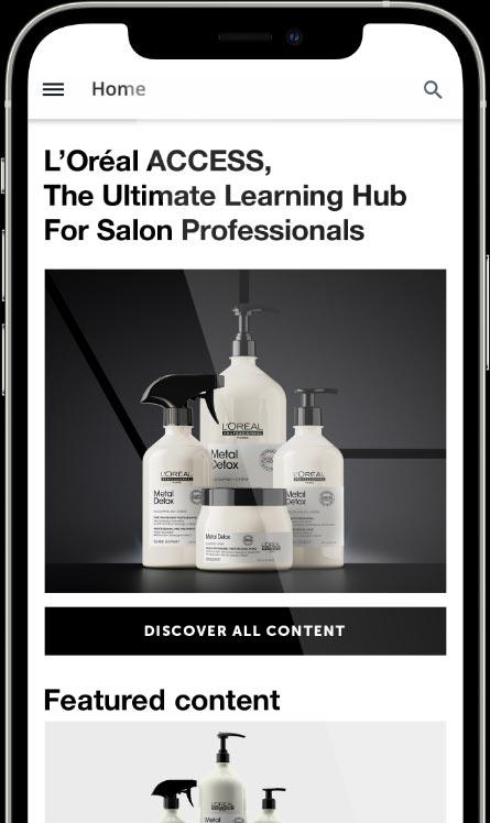 Learning Hub L'Oréal professionnel para cabeleireiros