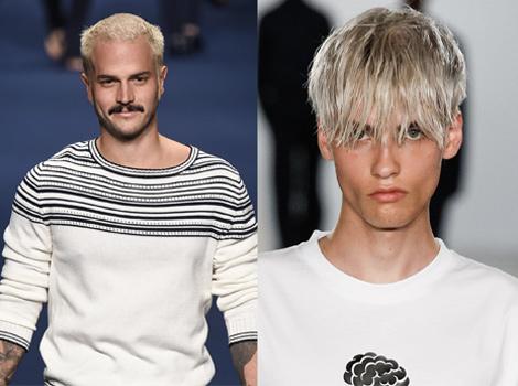 Male Hair Color Platinum Blond Vs Silver Hair L Oreal Professionnel